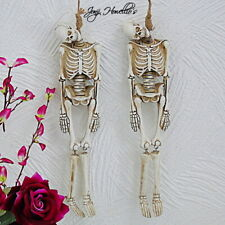 More details for funny bones gothic skeleton hanging noose fantasy sculpture ornament halloween