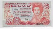 Falkland Islands 5 Pounds P12-A 1983 GEM CU