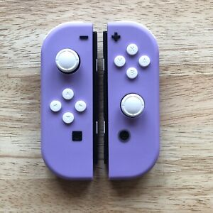 Custom Nintendo Switch Soft Purple Joy Con Controllers With A White Button Set