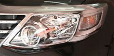 LH+RH CHROME HEAD LIGHT LAMP COVER TRIM FOR TOYOTA FORTUNER 2012 2013 2014 SUV