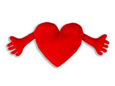 Herz Kissen, Plüschkissen, Kissenherz, Herzkissen, 70 cm - Formschön mit Armen