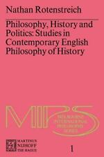 Philosophy, History and Politics: Studies in Contemporary English Philosophy of