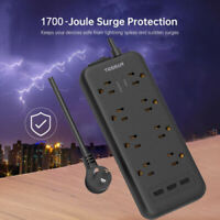Heavy Duty Surge Protector Power Strip With 8 Outlets,3 USB,5 ft Extension Cord