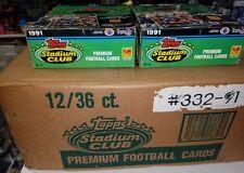1991 Stadium Club Football Case 12 Boxes - Favre RC - Factory Sealed Case - Rare