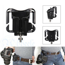 Quick Release Camera Holster Waist Belt Buckle Button Mount Clip For DSLR Camera