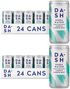 Dash Soda Water Limes & Garden Mint 48 x 200ml cans - UK DEAL BB 02/2022 Premium