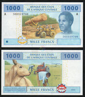 CENTRAL AFRICAN STATES GABON 1,000 1000 Francs 2002 P-407A UNC Uncirculated