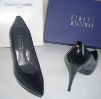 BROMLEY WEITZMAN Black Platform Pointed Toe Pump Heels Shoes Size UK 6.5 EU 39.5