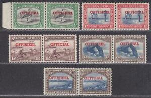 South West Africa 1951-52 KGVI Official Overprint Set Mint SG O23-O27 cat £55