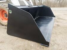 "NEW POWDER COATED 96"" SNOW/MULCH/DIRT/GRAVEL BUCKET FOR SKID STEER LOCAL PICK UP"