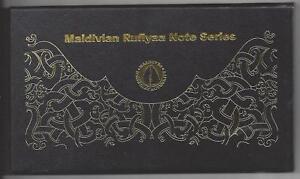 """MALEDIVEN MALDIVES 1000 500 100 50 20 10 RUFIYAA """"A226666"""" 2015 POLYMER + FOLDER"""