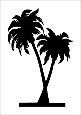 PALM TREE STENCIL A3 A4 A5 A6 reusable 190 micron Mylar Craft Home Wall Art Card