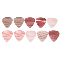 10pcs Wood Grain Guitar Médiator guitare plectre épaisseur 0,46/0,71/1.0 mm I