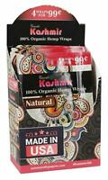 KASHMIR Organic Hemp Wrap 15 Pouch in Full Box 4 Wraps in a Pouch 60 Large Wraps