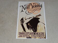 """Large Neil Young HARVEST 1971 Concert Poster, 19""""x13"""" RARE + BEAUTIFUL!"""