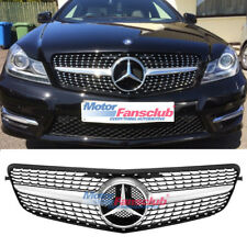 For Mercedes Benz C-CLASS W204 Diamond Front Grille For C180 C200 C300 2008-2014
