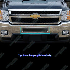 For 2011-2014 Chevy Silverado 2500 HD/3500 HD Stainless Black Bumper Mesh Grill