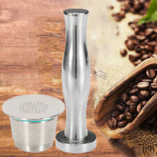 Stainless Steel Coffee Tamper Flat Base For Nespresso Machine Refillable Capsule