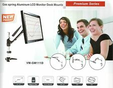 """RobotArm GM111D Gas Spring Desk Mount LCD for 15"""" to 27"""" LCD LED monitors NEW"""