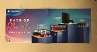 "PLAYSTATION 4 'DAYS OF PLAY' Banner 53x22"" Gamestop Promo Poster PS4 Double Side"