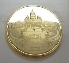Pope John Paul Gold Coin Vatican Rome Jesus Christ Religion Church Italy Prayer