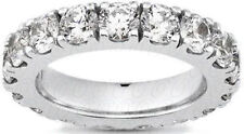 2.85 carat Round Diamond Eternity ring 14K Gold Band 19 x 0.15 ct, G SI1 size 6