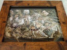 Framed Original Print Jim henson Labyrinth loot crate DX #16 creatures bowie