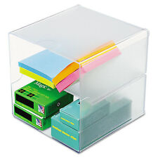 Deflecto Desk Cube Divided Clear 6 x 6 x 6 350701