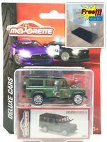 Majorette Land Rover Defender 110 Metal Flake Green Deluxe Car 1/60 266C