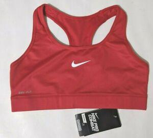 Nike Dri-Fit Pro Combat Sports Bra Compression RED M CrossFit Jog Yoga 410631