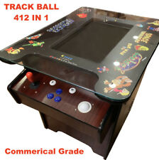 🔥Cocktail Arcade Machine TRACK BALL! W 412 Classic Games ✅ commercial table 🔥