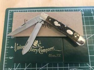 Union Cutlery 2007 Ka-Bar Knife 2010 Green Jigged Bone 106 / 250 New in Box