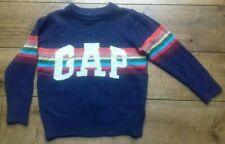 Boys Gap Navy Knitted Rainbow Jumper Age 4