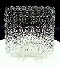 """EAPG CLEAR DAISY AND BUTTON HEAVY SQUARE 7"""" DESSERT / SALAD PLATE 1850-1910"""