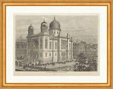 Die neue Synagoge in Nürnberg J. Löser Deutsches Reich Glaube Holzstich E 11684