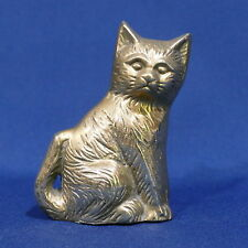 "Vintage 4"" Solid Brass Cat Statue Paperweight"