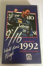 GENUINE AUTHENTIC F1 1992 REVIEW VHS FORMULA ONE OFFICIAL REVIEW VIDEO