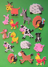 Farm Animals foam stickers, scrapbooking,  kids crafts