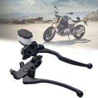"""7/8"""" 22mm MOTORCYCLE FRONT RIGHT HYDRAULIC BRAKE MASTER CYLINDER CLUTCH LEVER"""