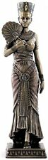 "8.75"" Egyptian Queen Holding Fan Egypt Home Decor Statue Figure Sculpture"