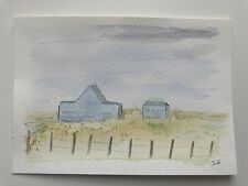 More details for watercolour & ink painting, untitled landscape
