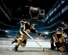 Gerry Cheevers and Don Awrey Boston Bruins Game Auction 8x10 Photo