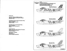 Warbird F-86 Sabre Decals 1/48 026 USMC, Mig Mad Marine, Darling Dottie, Chopper