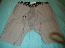 #1246 Under Armour MPZ Padded Base Compression Shorts, Men's 3XL football gray