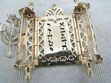a672 Nice Vintage Opening Torah with Menorah & Star of David in 14k Yellow Gold