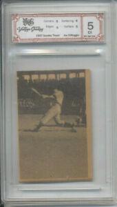 1937 Goudey Thum Movies Joe DiMaggio Flip Card slabbed 5 Vintage Grading Rookie