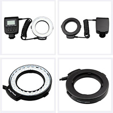For Sony Macro Led Ring Flash Light LCD Display Camera Three Colors Steady