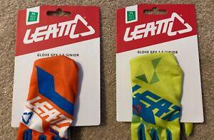 New! LEATT GPX 1.5 JUNIOR/MINI SIZE XS Motocross Gloves Set of 2 Free Shipping