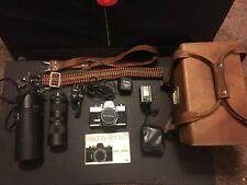 Minolta SRT 101 / MC Rokkor-PF 55mm f/1.7 With Second Lens + Accessories + Case