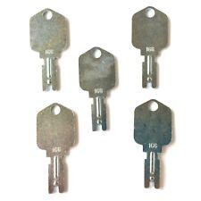 (5) Forklift Keys fit Clark Yale Hyster Komatsu Gradall Gehl Crown